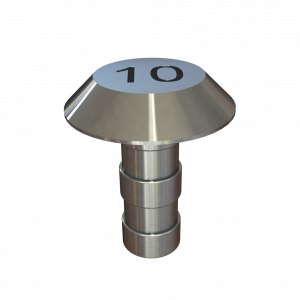 Chamfered Plain Top Demarcation Stud - Engraved
